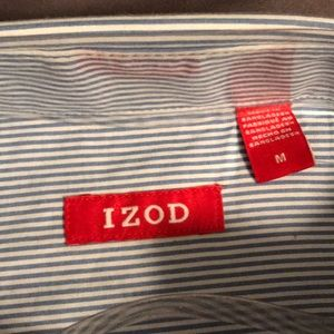 Izod Shirts - Blue and white stripped button up